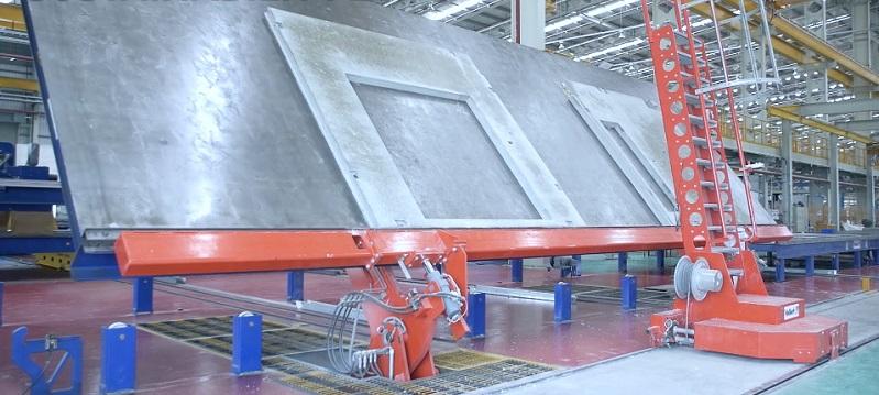 Producción de elementos estructurales 2D en fábrica - construcción industrializada